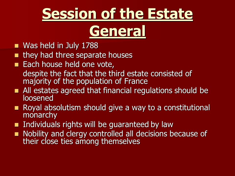 Session of the Estate General