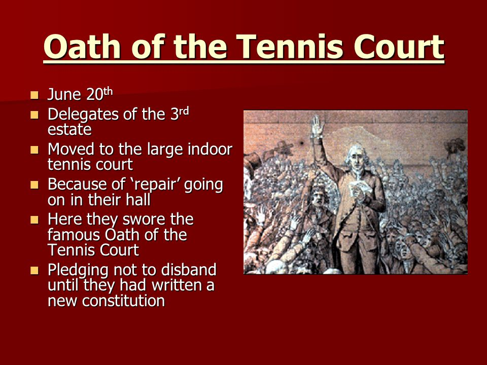 Oath of the Tennis Court