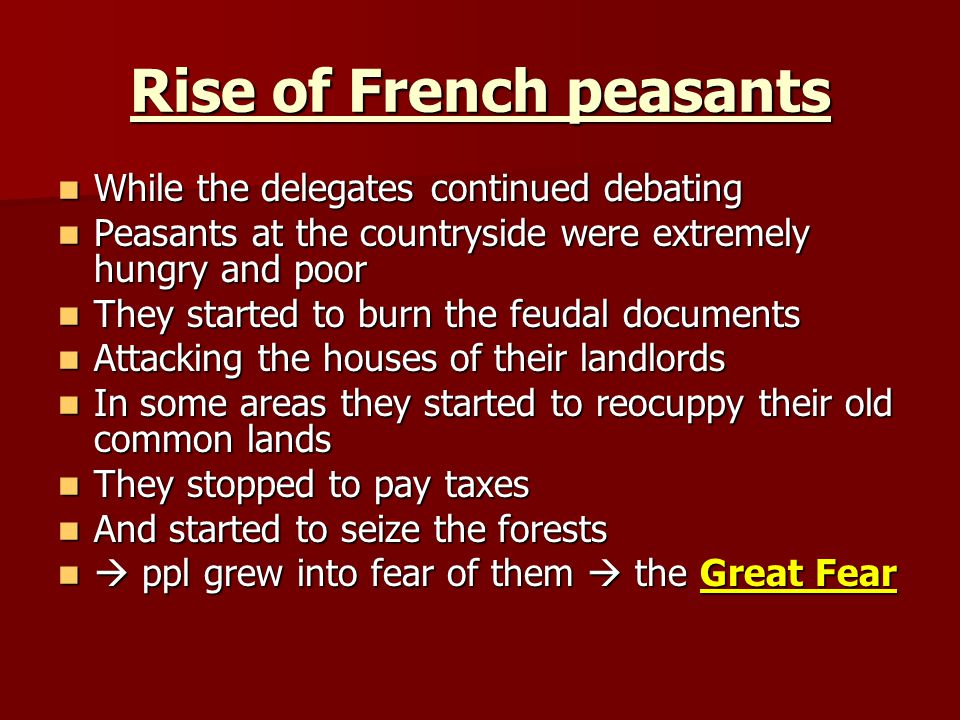 Rise of French peasants