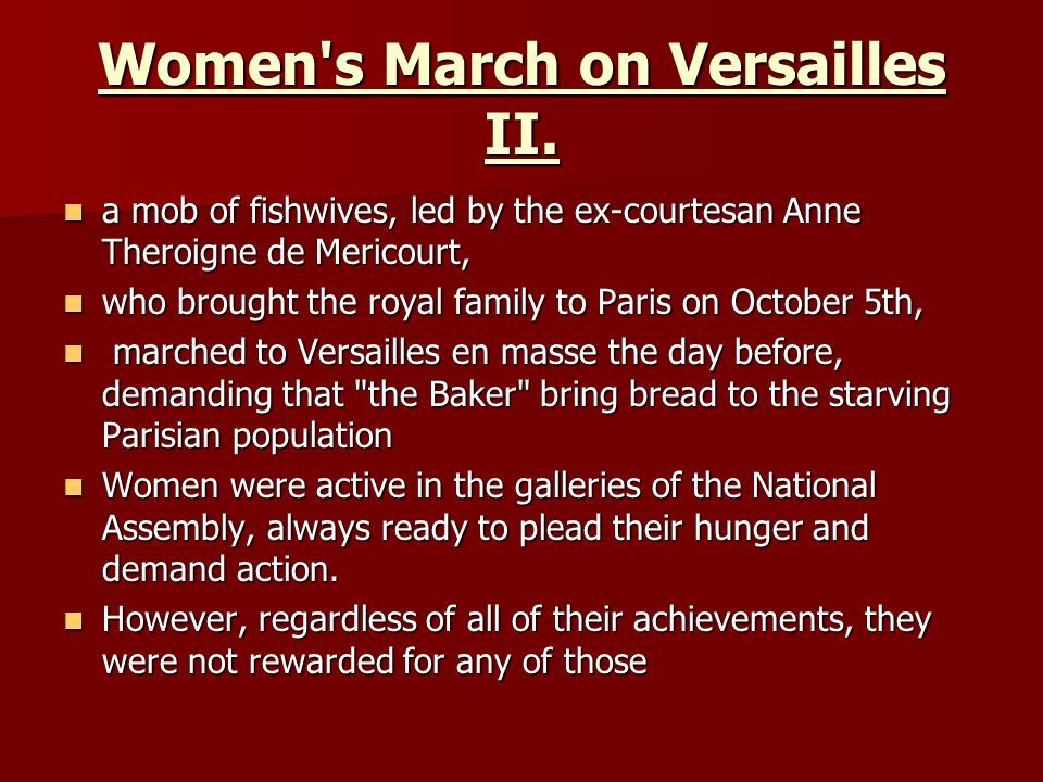 Women s March on Versailles II.