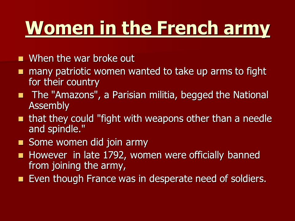 Women in the French army