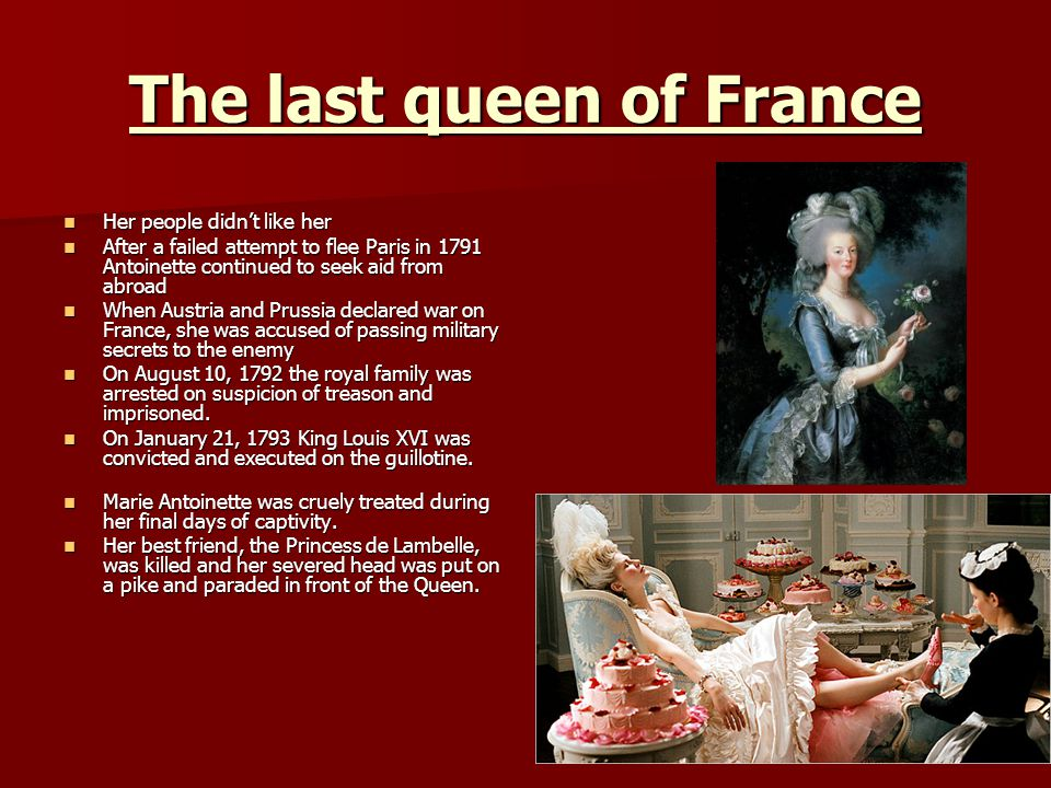 The last queen of France