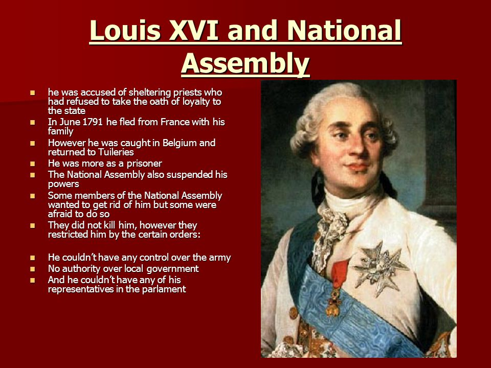 Louis XVI and National Assembly