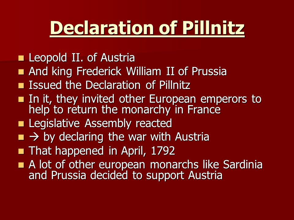 Declaration of Pillnitz