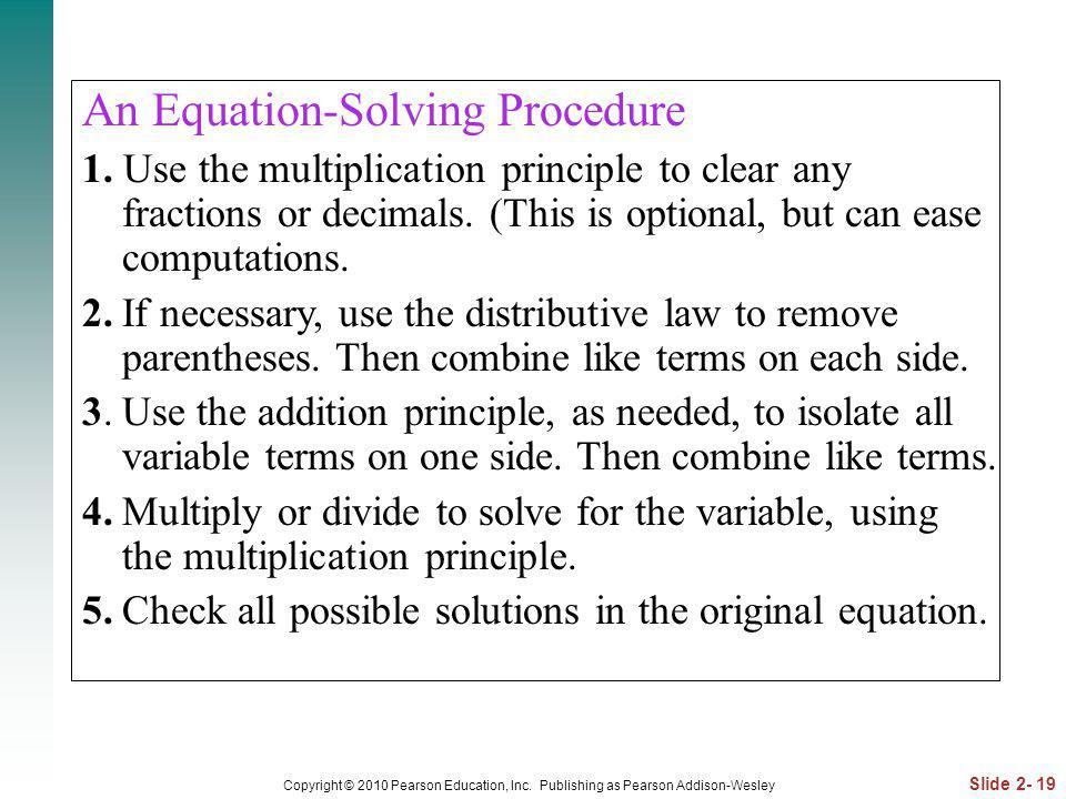 An Equation-Solving Procedure