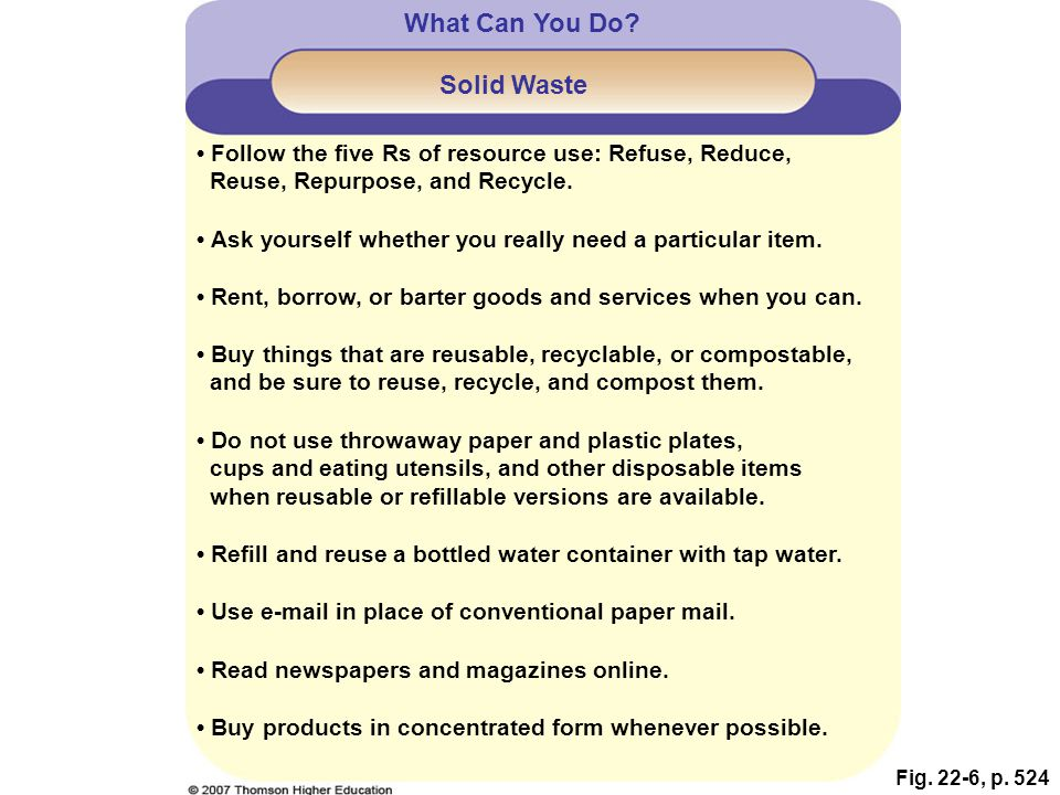 What Can You Do Solid Waste