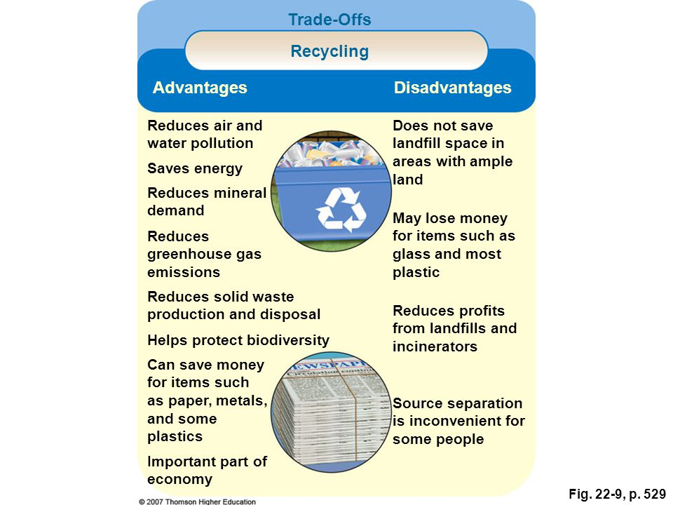 Trade-Offs Recycling Advantages Disadvantages