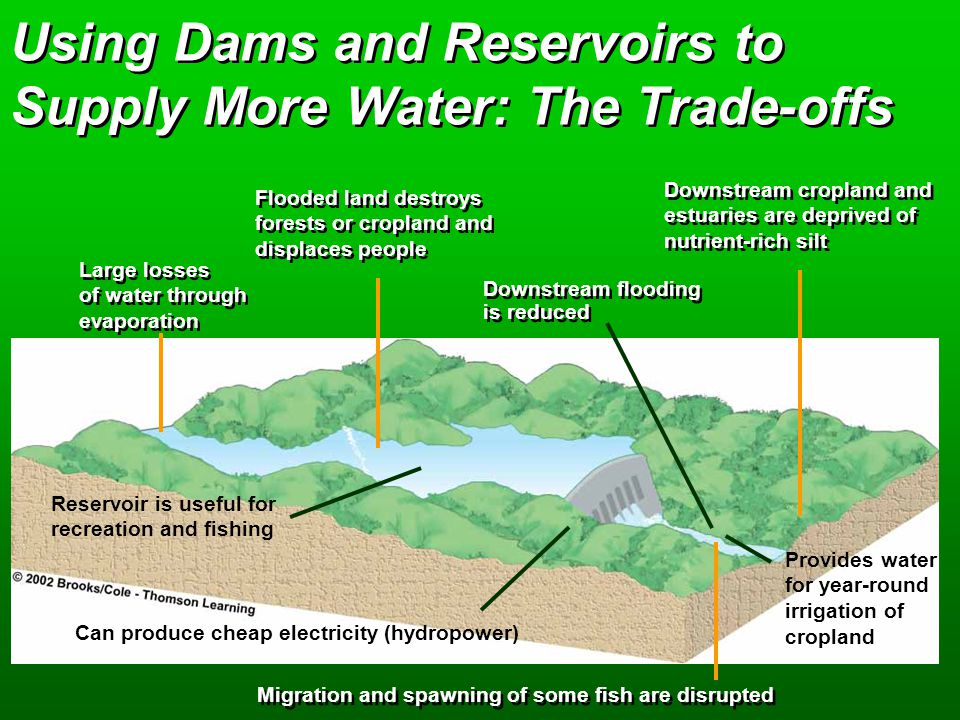 Using Dams and Reservoirs to Supply More Water: The Trade-offs