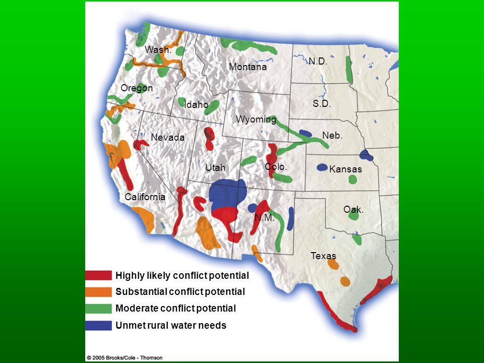 Wash. N.D. Montana. Oregon. Idaho. S.D. Wyoming. Nevada. Neb. Utah. Colo. Kansas. California.