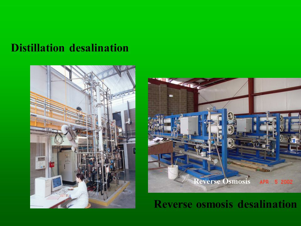 Distillation desalination