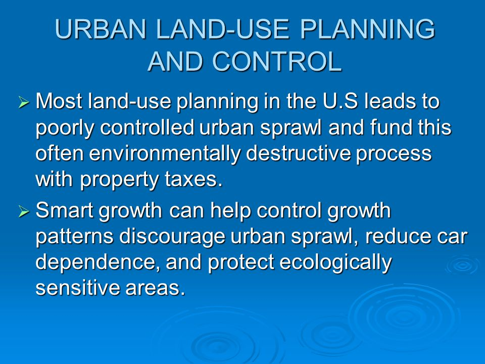 URBAN LAND-USE PLANNING AND CONTROL