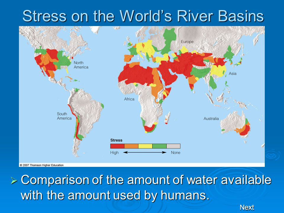 Stress on the World's River Basins