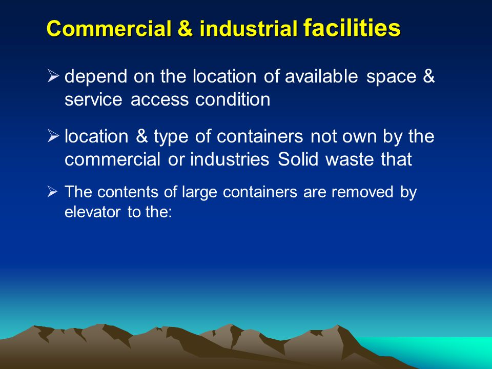 Commercial & industrial facilities