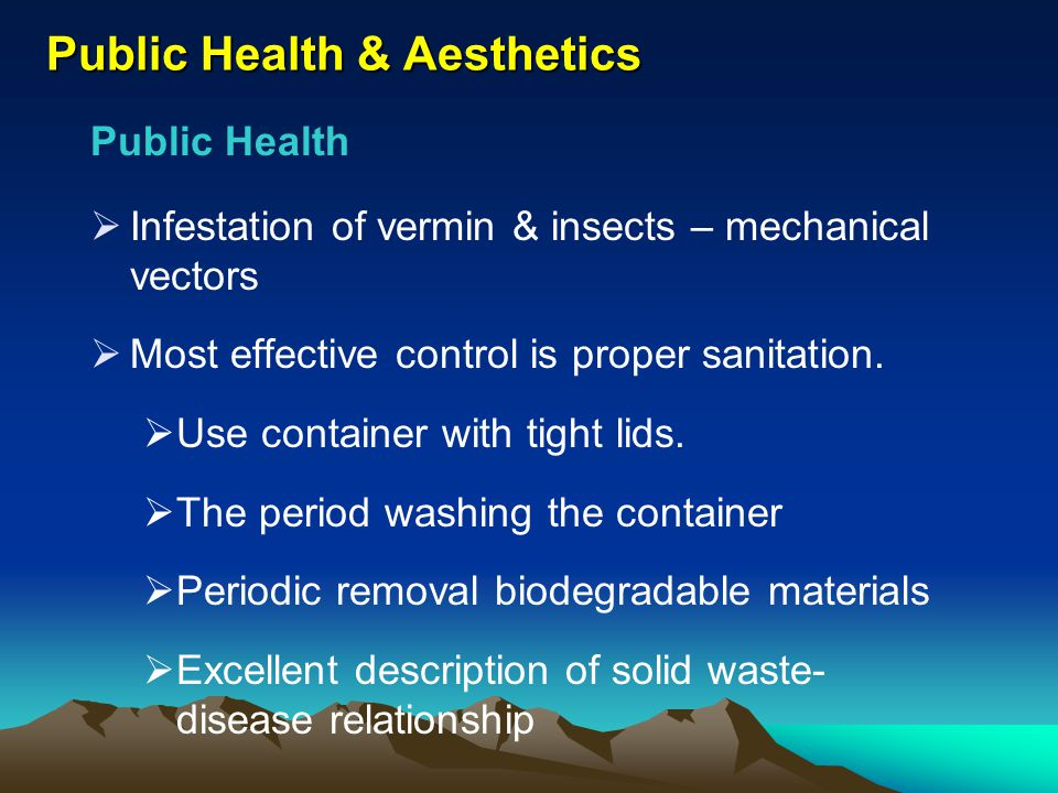Public Health & Aesthetics