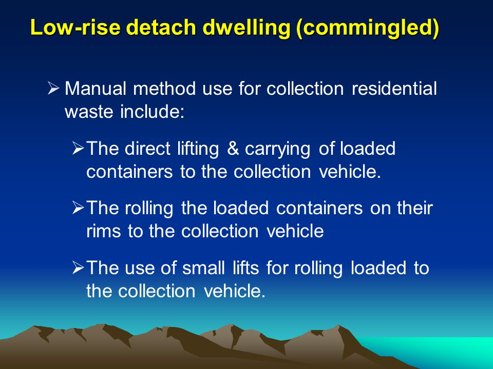 Low-rise detach dwelling (commingled)
