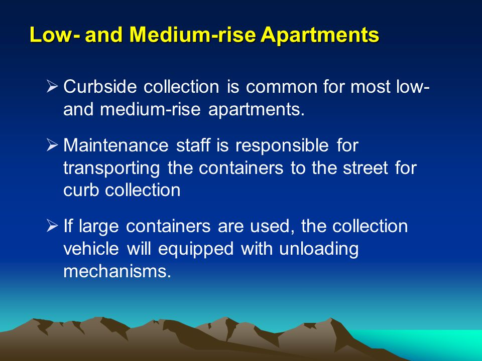 Low- and Medium-rise Apartments