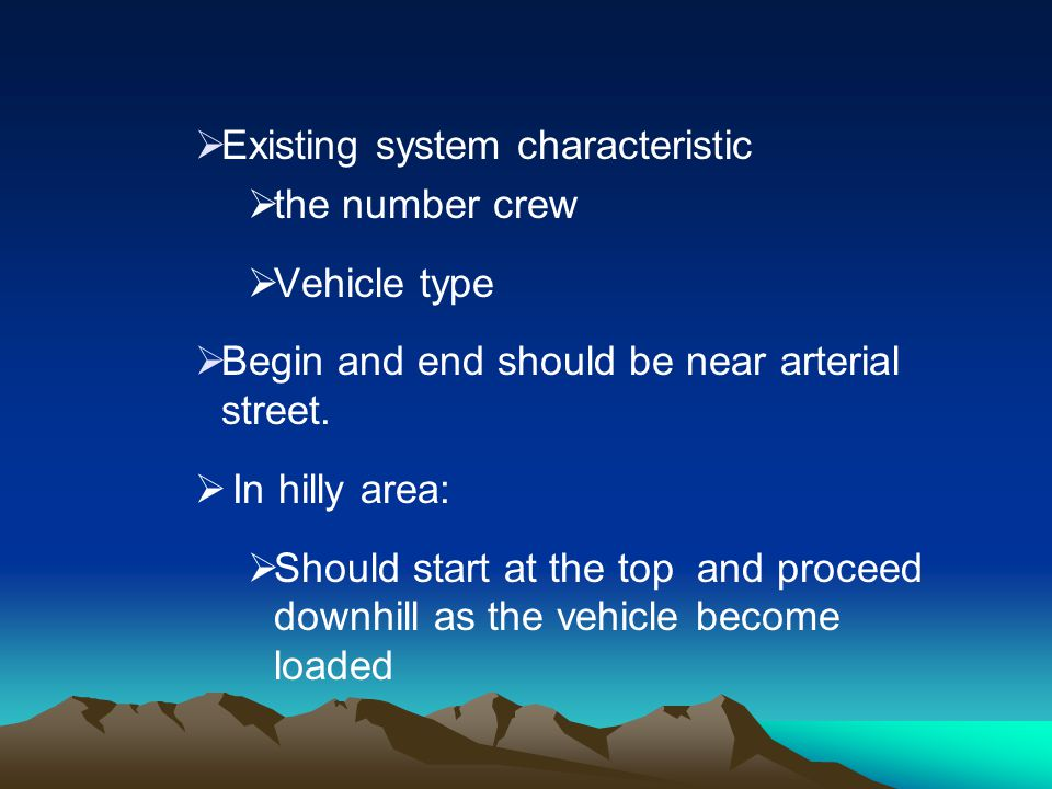 Existing system characteristic