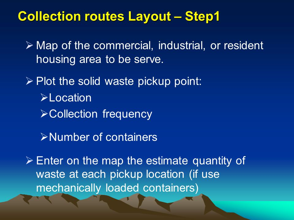 Collection routes Layout – Step1