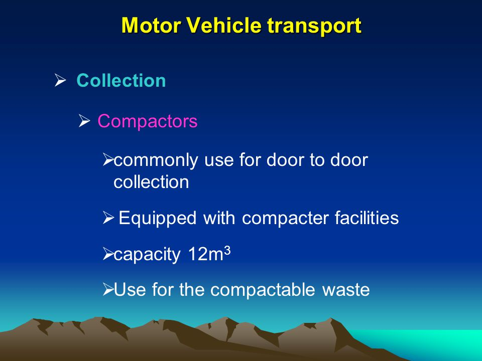 Motor Vehicle transport