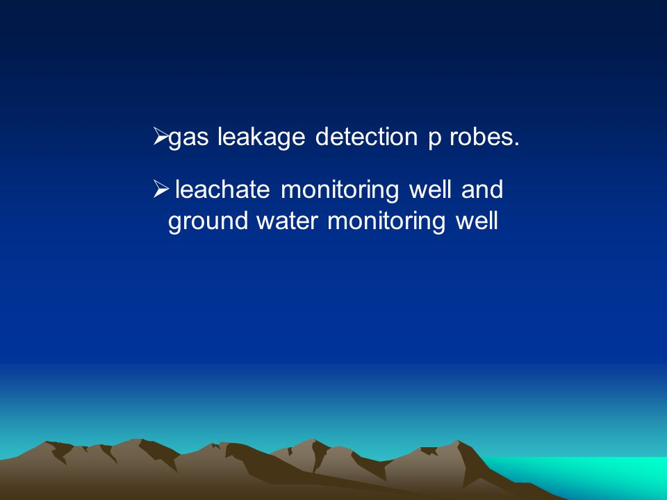 gas leakage detection p robes.