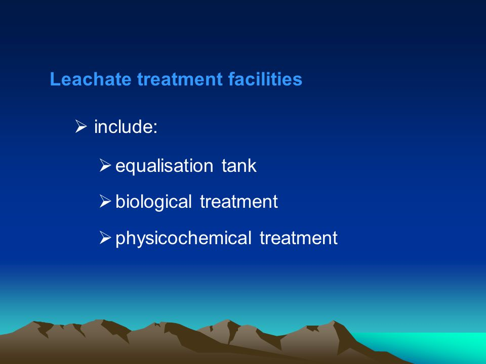 Leachate treatment facilities