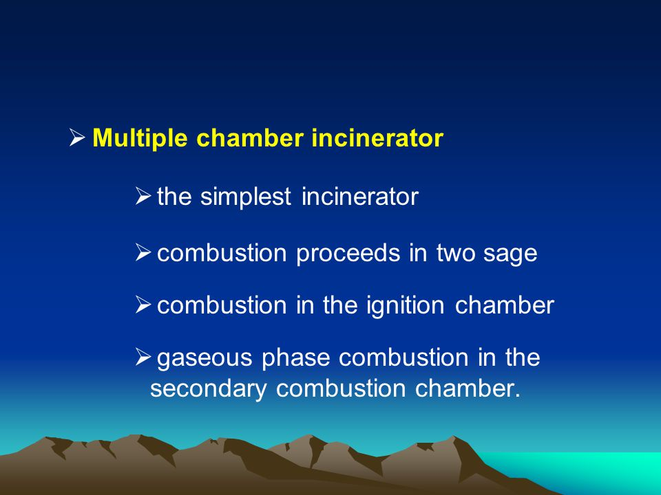 Multiple chamber incinerator