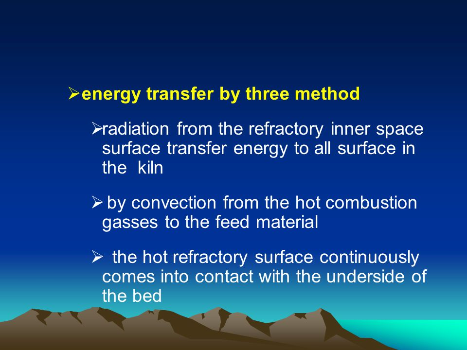 energy transfer by three method