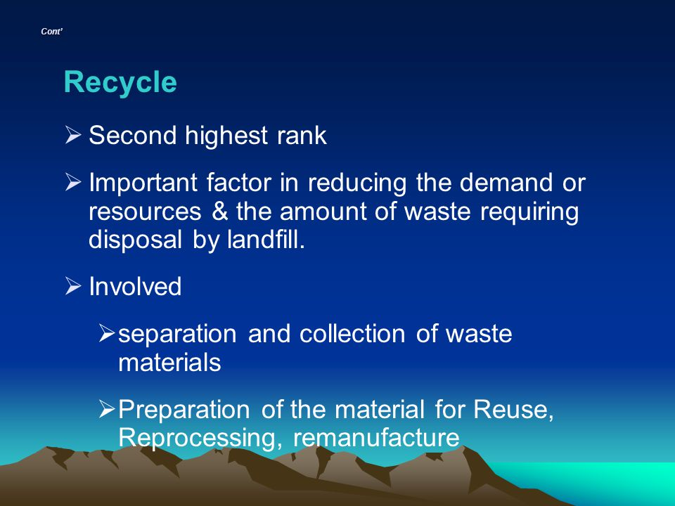 Recycle Second highest rank