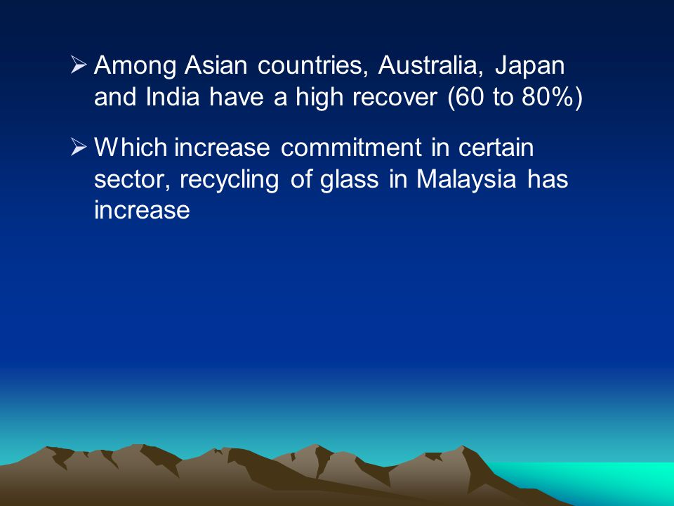 Among Asian countries, Australia, Japan and India have a high recover (60 to 80%)
