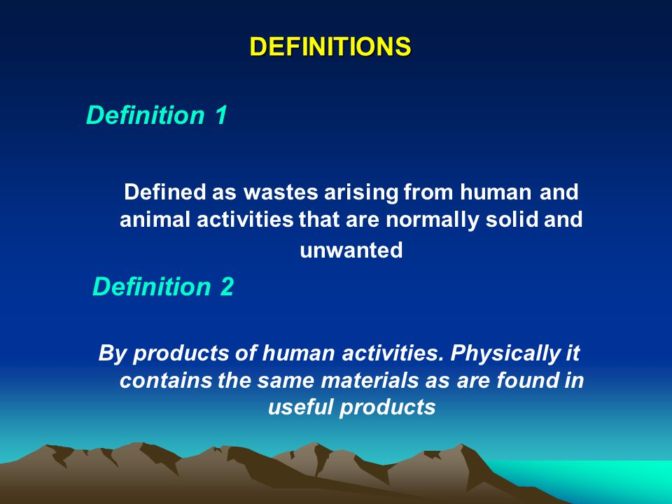DEFINITIONS Definition 1