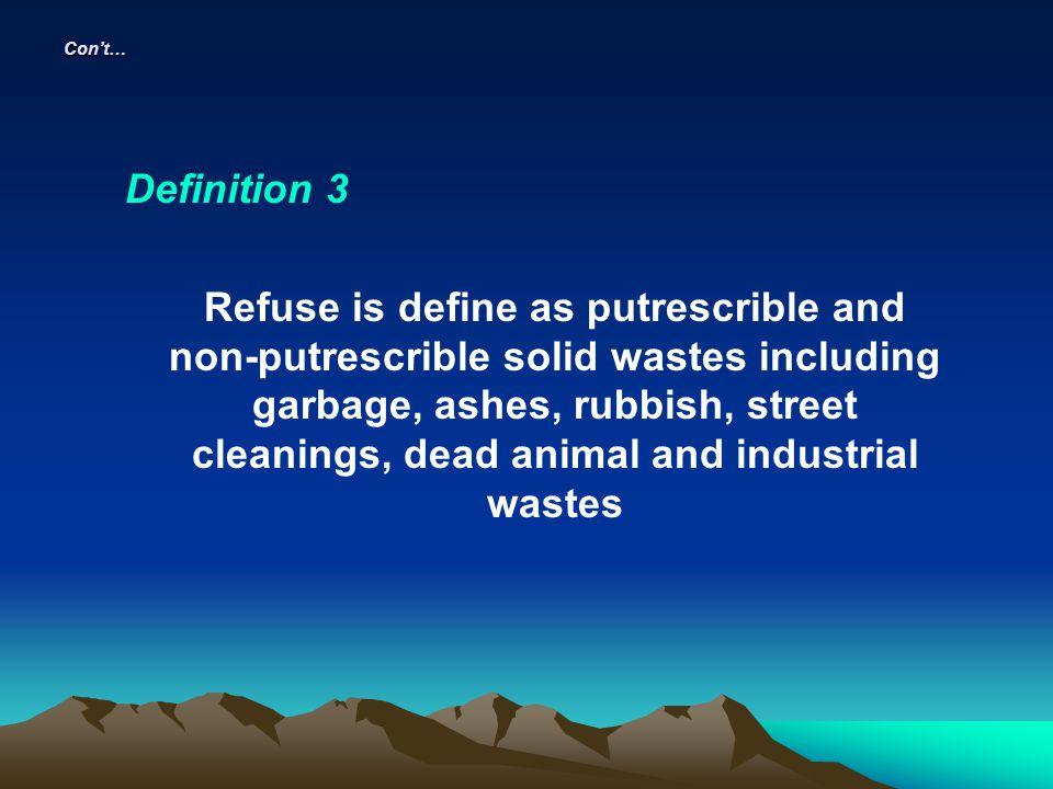 Con't… Definition 3.