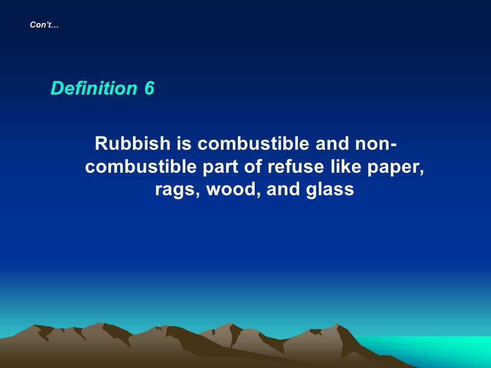 Con't… Definition 6.