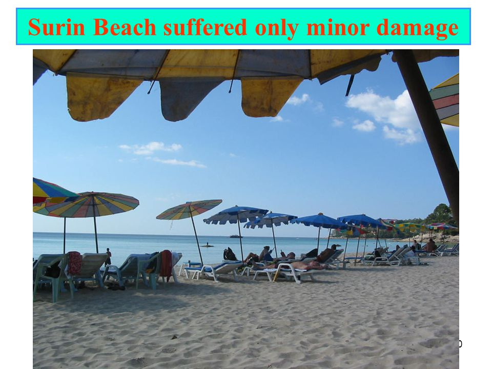 Surin Beach suffered only minor damage