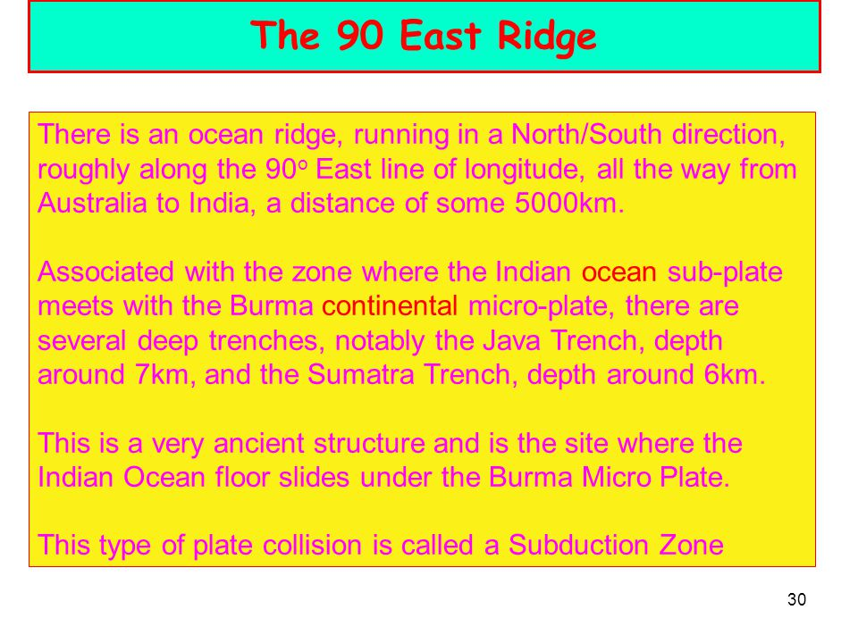 The 90 East Ridge