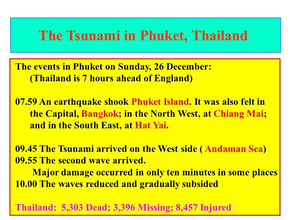 The Tsunami in Phuket, Thailand