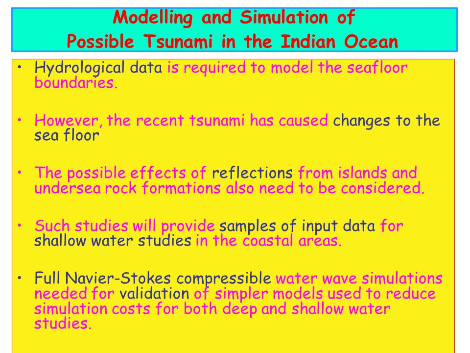 Modelling and Simulation of