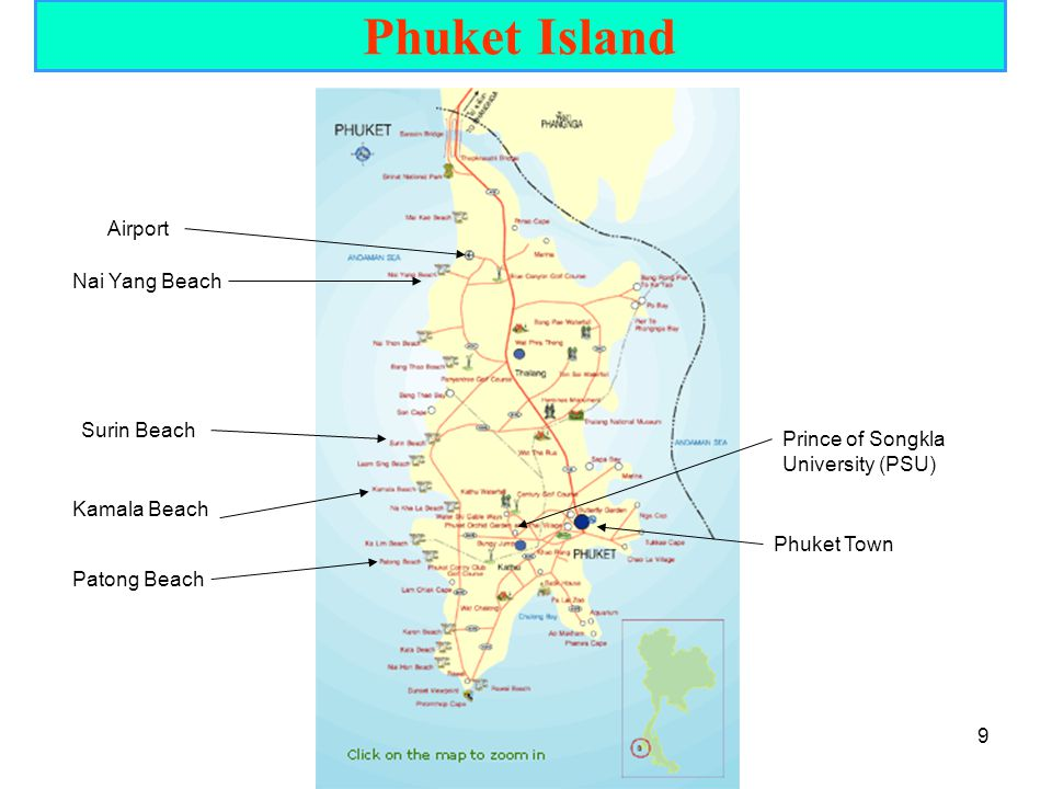 Phuket Island Airport Nai Yang Beach Surin Beach