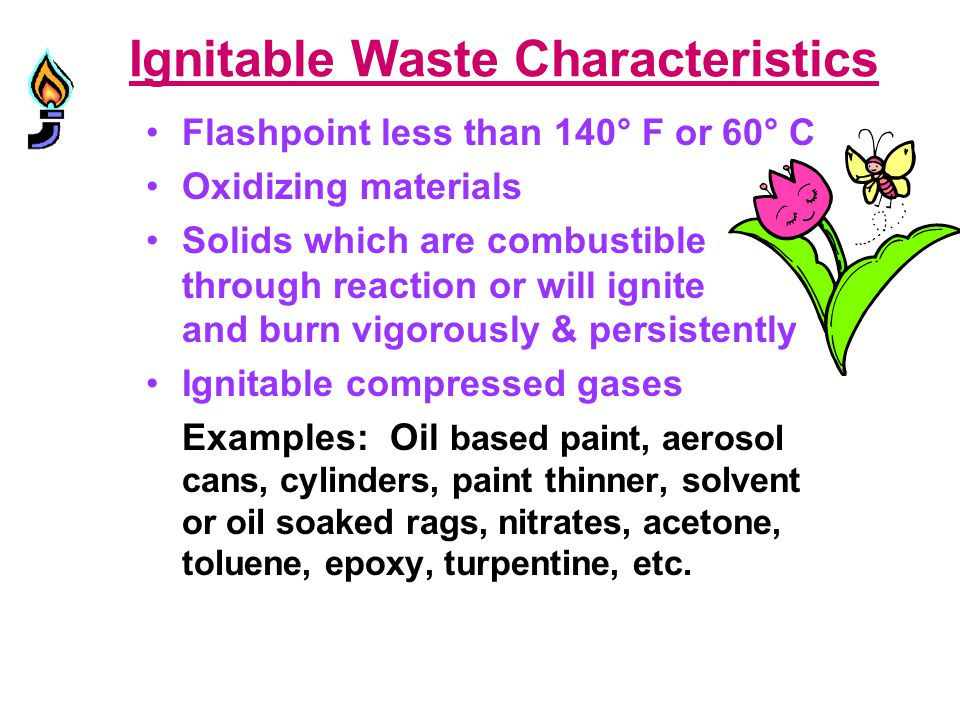 Ignitable Waste Characteristics