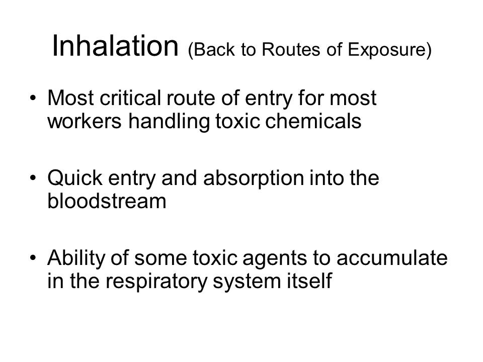 Inhalation (Back to Routes of Exposure)