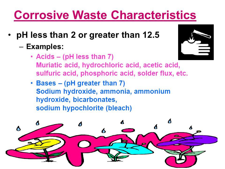 Corrosive Waste Characteristics