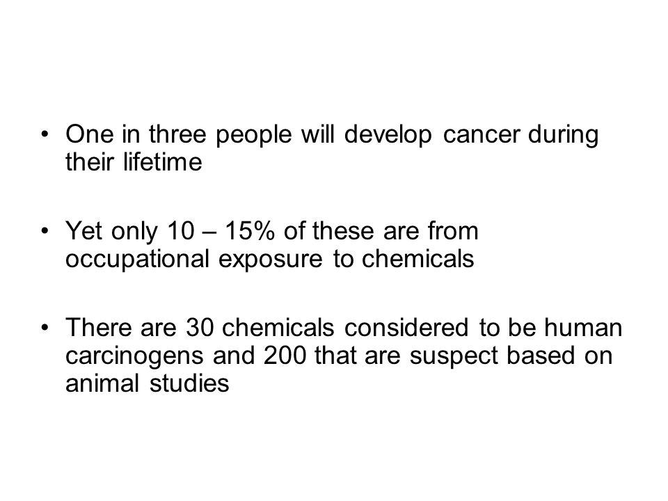 One in three people will develop cancer during their lifetime