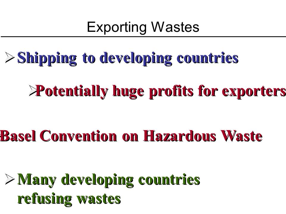 Shipping to developing countries