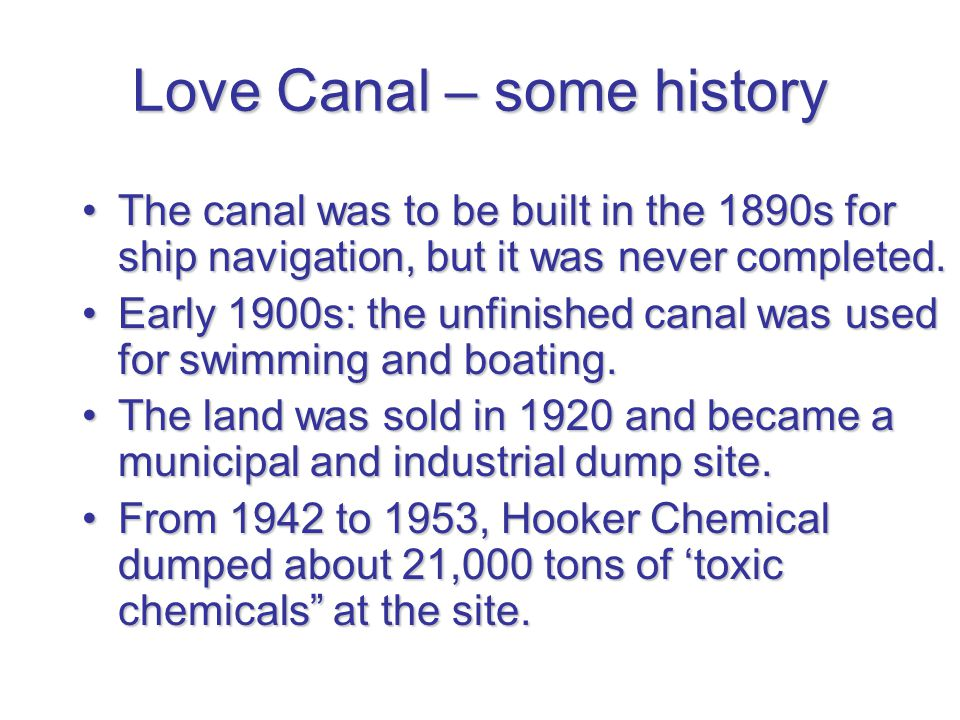 Love Canal – some history