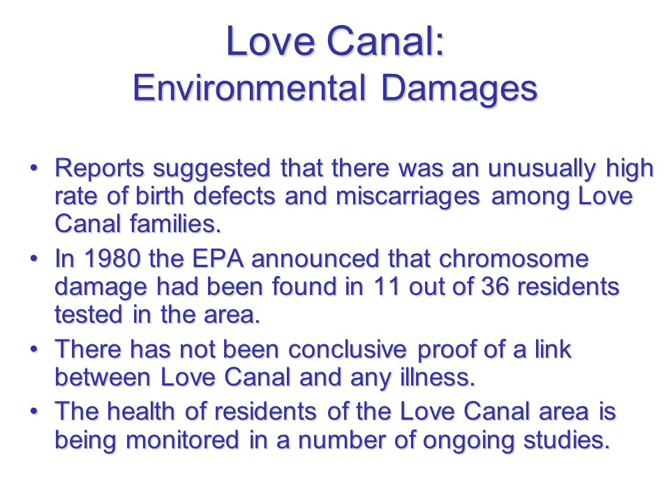 Love Canal: Environmental Damages