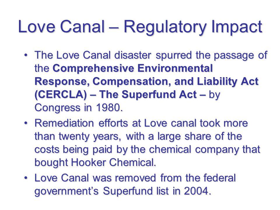 Love Canal – Regulatory Impact