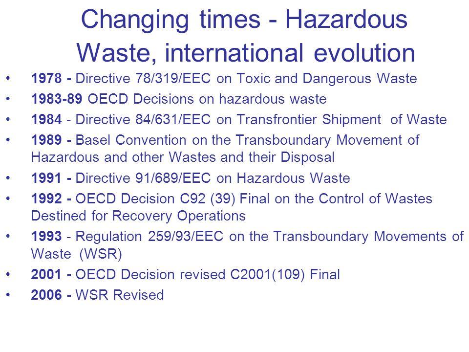 Changing times - Hazardous Waste, international evolution
