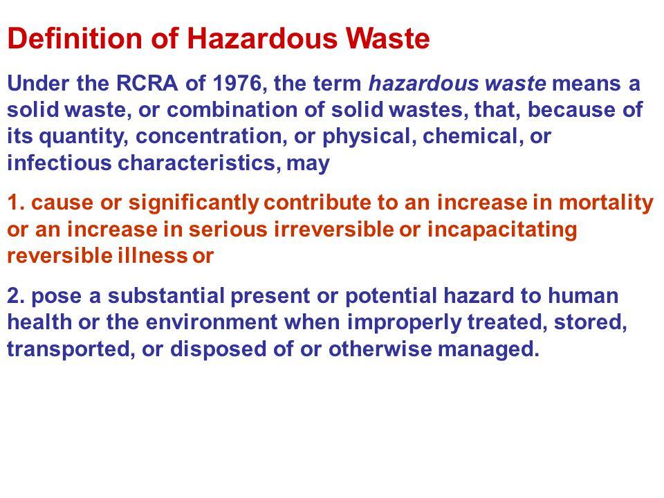 Definition of Hazardous Waste