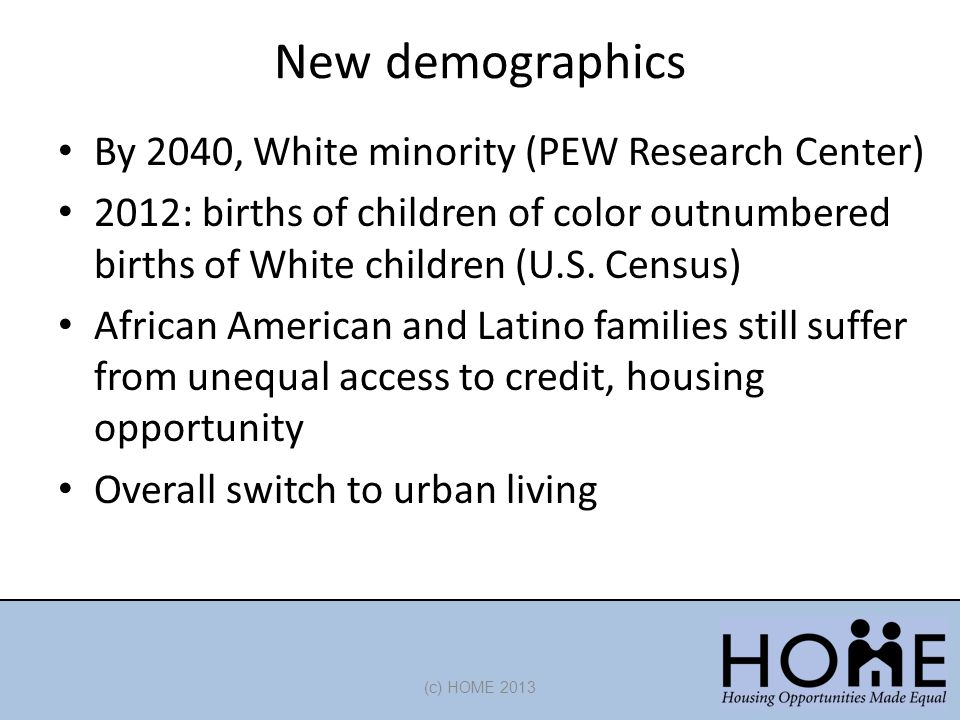 New demographics By 2040, White minority (PEW Research Center)