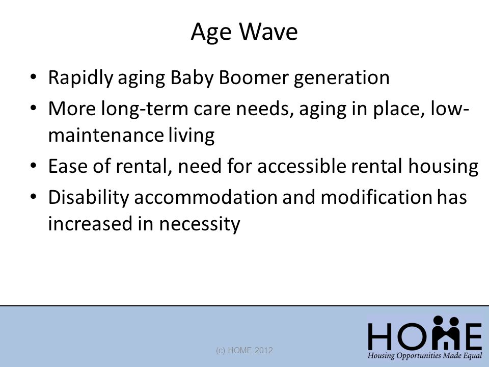 Age Wave Rapidly aging Baby Boomer generation