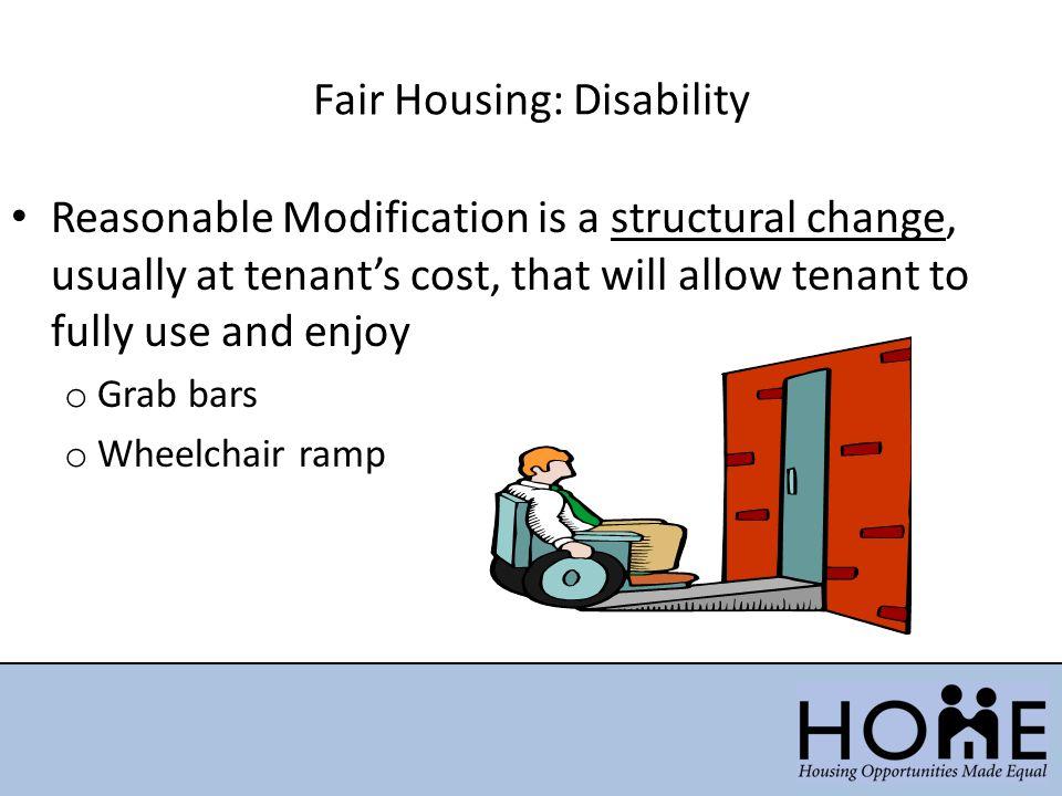 Fair Housing: Disability